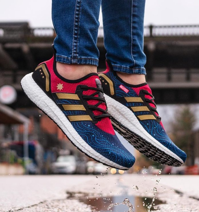 0a586cd341dc3 Ridiculous: Dope Captain Marvel Adidas shoes somehow only come in ...