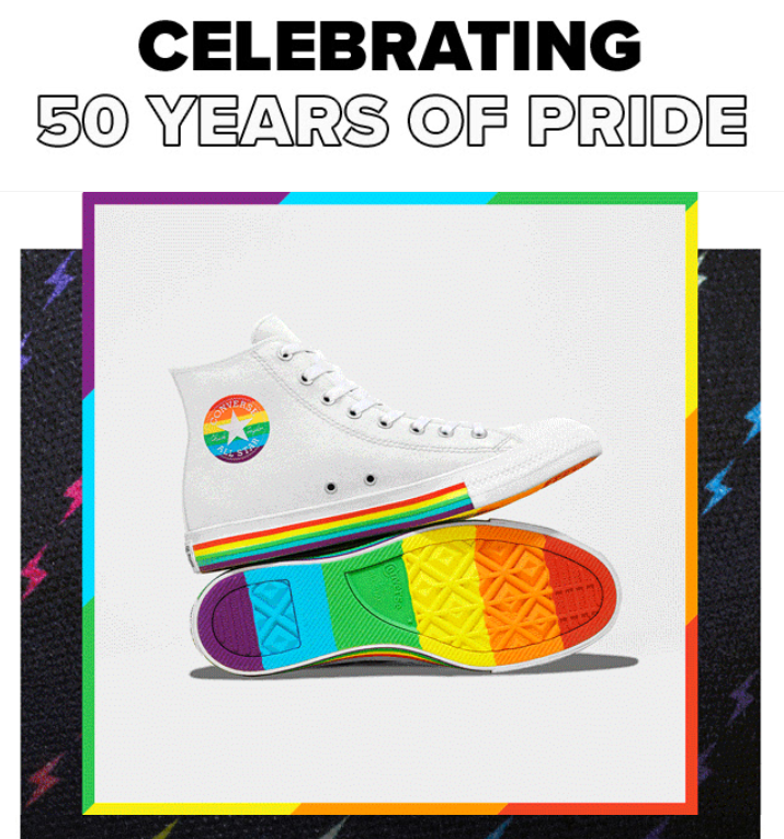 bf4987be4abf Converse s new 2019 Gay Pride custom sneaker collection features Trans flag  colors