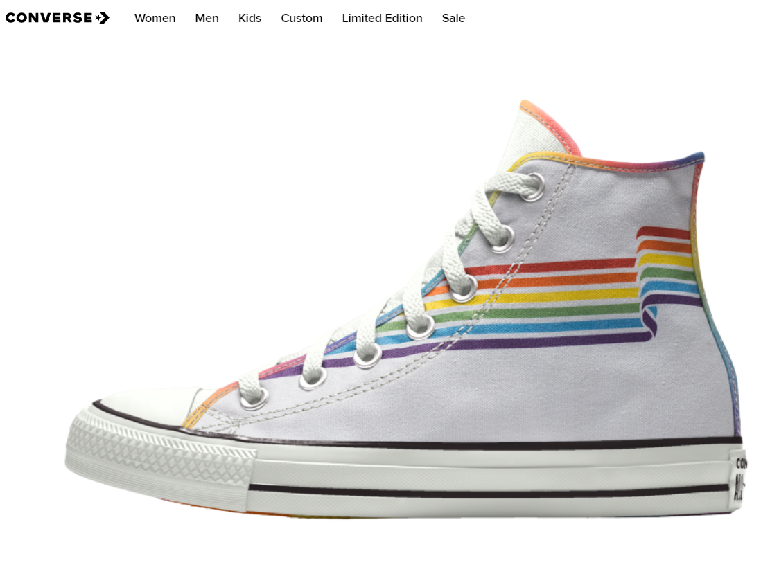 173cb3d63930e Converse's new 2019 Gay Pride custom sneaker collection features ...