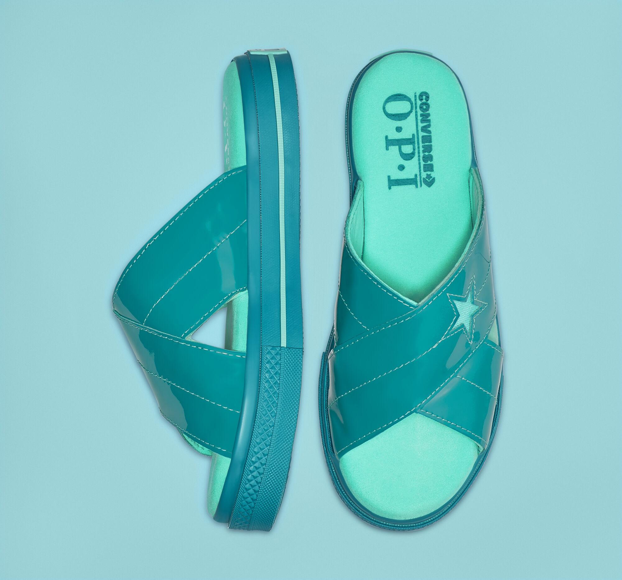 Neon Converse sandals