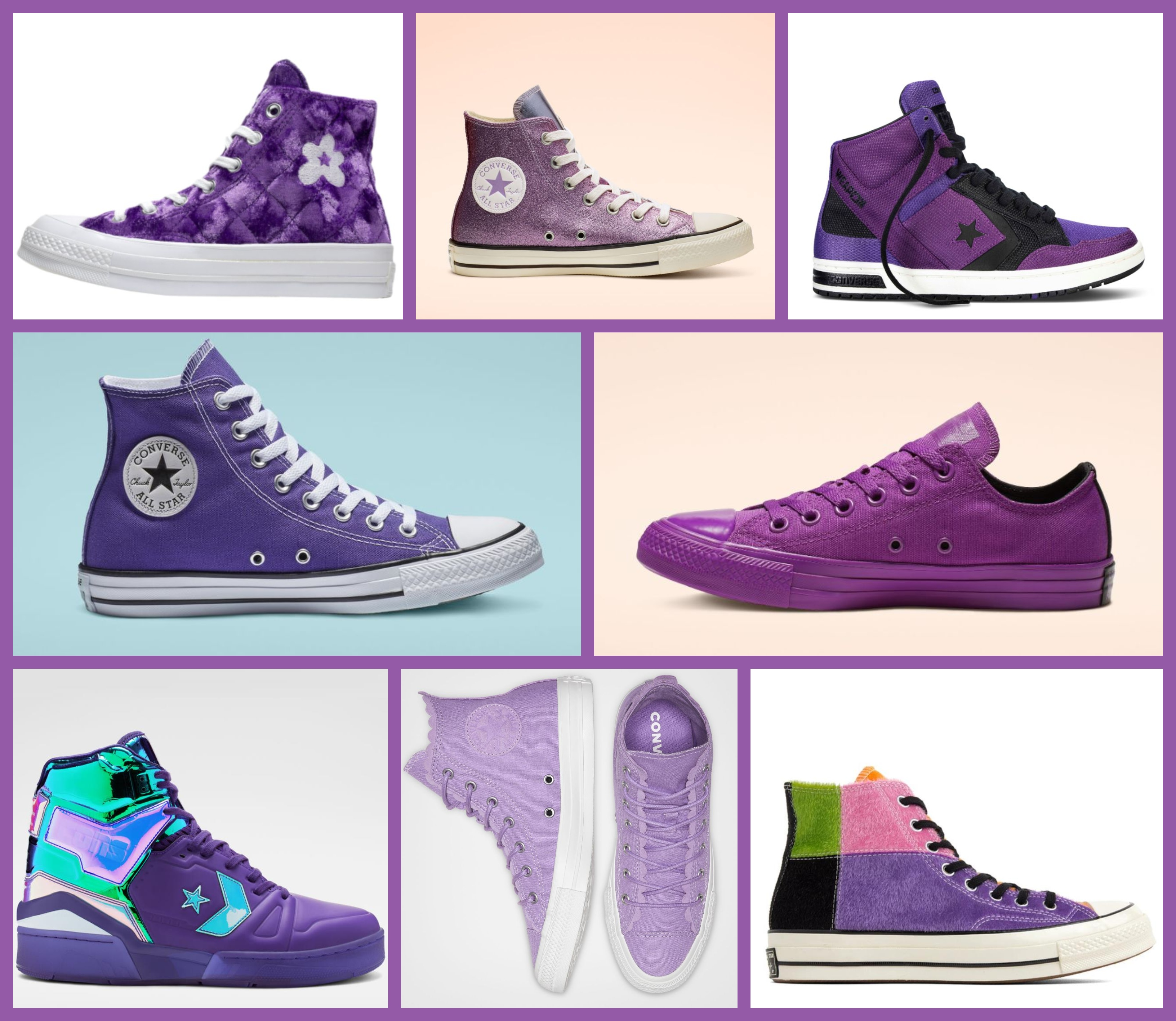 dd55c5c7f344 Purple Converse Shoes: The 37 Best purple high top, low top Converse  sneakers